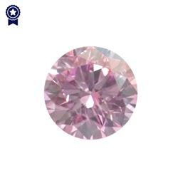 Fancy Pink Round Shape, I1 Clarity Diamond (.27 Carat) GIA Cert: 2165694221