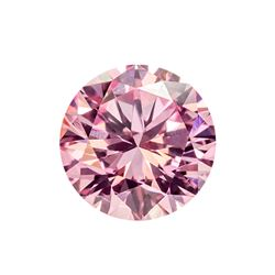 Fancy Purple Pink Round Shape, I2 Clarity Diamond (0.30 Carat)