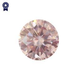 Fancy Light Pink Round Shape, SI2 Clarity Diamond (0.33 Carat) GIA Cert: 1152049746