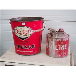 Co-op Grease Pail and Fuel Pail