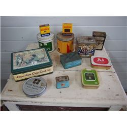 Tins (12), Assorted