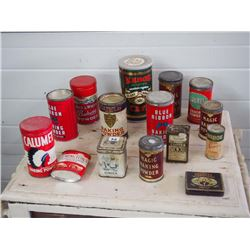 Tins (15), Assorted