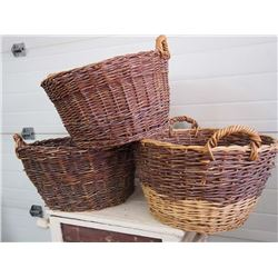 Wicker Baskets, Set of 3