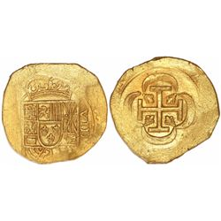 "Mexico City, Mexico, cob 8 escudos, (1714J), ""GRAT variety"" dies (date on reverse), from the 1715 Fl"