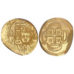 Mexico City, Mexico, cob 2 escudos, 1714J, encapsulated NGC MS 65, from the 1715 Fleet (as stated in