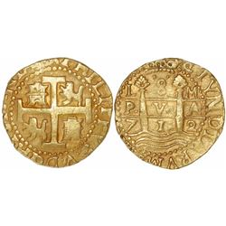 Lima, Peru, cob 8 escudos, 1712M, from the 1715 Fleet.