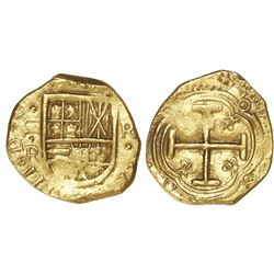 Bogota, Colombia, cob 2 escudos, Philip IV, assayer R below denomination II to left (1640s), ex-Lass