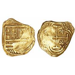 Bogota, Colombia, cob 2 escudos, Philip IV, assayer not visible (ca. 1650).