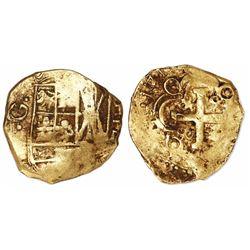 Bogota, Colombia, cob 2 escudos, 1719, no assayer (Arce), rare.