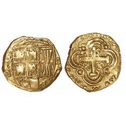 Bogota, Colombia, cob 2 escudos, (1)720, no assayer (Arce), rare, ex-Lasser.