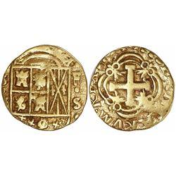 Bogota, Colombia, cob 2 escudos, 1754S, mintmark FS to right.