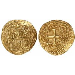 Bogota, Colombia, cob 2 escudos, 175(?)(S), mintmark FS to right.