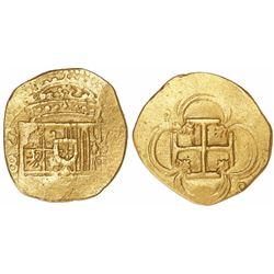 Seville, Spain, cob 4 escudos, Philip II or III, assayer B.