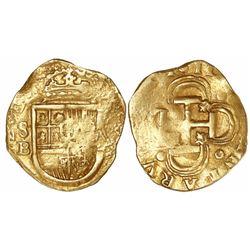 Seville, Spain, cob 2 escudos, 1611B.