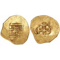 Seville, Spain, cob 2 escudos, Philip III, assayer not visible.