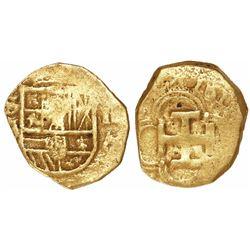 Seville, Spain, cob 1 escudo, Philip III, assayer not visible.