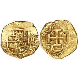 Seville, Spain, cob 2 escudos, Philip IV, assayer D.