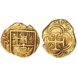 Seville, Spain, cob 1 escudo, (1)623D, rare.
