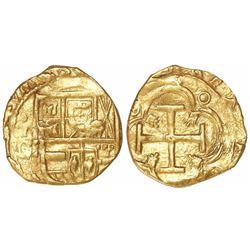 Toledo, Spain, cob 2 escudos, Philip III, assayer C below mintmark oT to left.