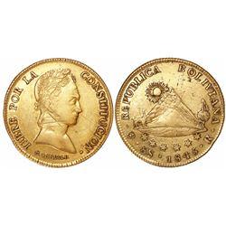 Potosi, Bolivia, 8 scudos, 1845R.