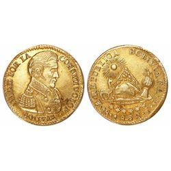 Potosi, Bolivia, 1 scudo, 1832JL, rare as non-overdate.