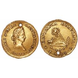 Potosi, Bolivia, 1/2 scudo, 1844R.