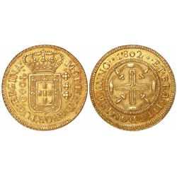Brazil (Bahia mint), 4000 reis, Maria I, 1802.