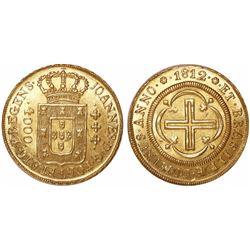 Brazil (Rio mint), 4000 reis, Joao Prince Regent, 1812.