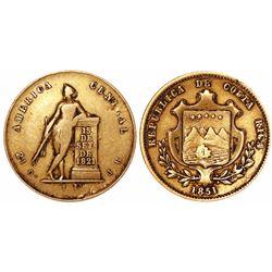 Costa Rica, 1 escudo, 1851JB.