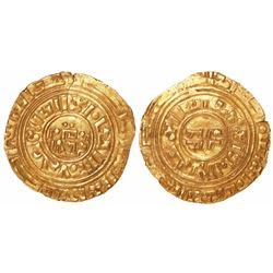 Crusader States, Kingdom of Jerusalem, AV bezant (dinar), 11th-12th century AD, Acre mint (?), imita
