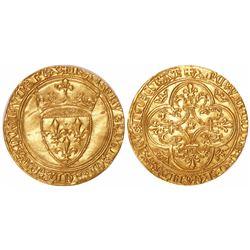 France, ecu d'or, Charles VI, 1380-1422.
