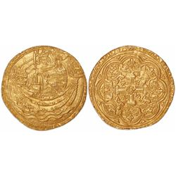 London, England, noble, Edward III, 4th coinage (1351-77), from an unidentified early-1400s wreck of