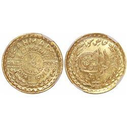 Karachi, India, 1/2 tola, no date (ca. 1920s), Ahmad & Company, encapsulated NGC MS 67.