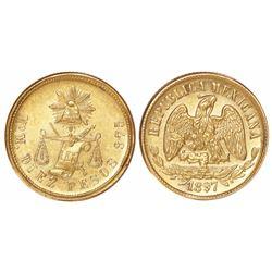 Mexico City, Mexico, 10 pesos, 1897M.