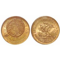 Mexico City, Mexico, 20 pesos, 1920/10, encapsulated PCGS MS64.