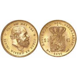 Netherlands (Kingdom), 10 gulden, Willem III, 1876.