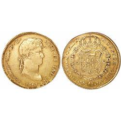 Lima, Peru, bust 4 escudos, Ferdinand VII, 1817JP.