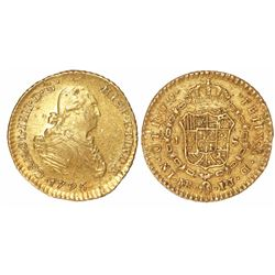 Lima, Peru, bust 1 escudo, Charles IV, 1795IJ.
