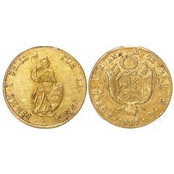 Lima, Peru, 2 escudos, 1855MB.