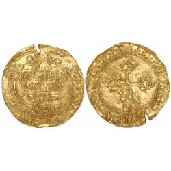 Barcelona, Spain, 1 ducat, Charles I, ordinal QUINTVS, rare.