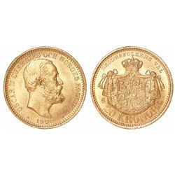 Sweden, 20 kronor, 1900-EB.