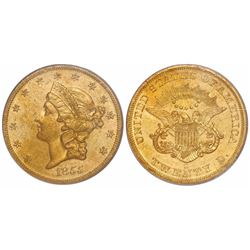 """USA (San Francisco mint), $20 Coronet Liberty, 1855-S, encapsulated PCGS genuine, from the """"Fort Cap"""