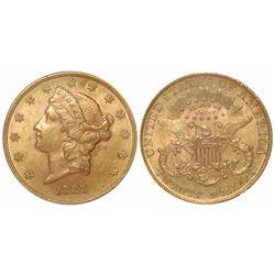 USA (Philadelphia mint), $20 Coronet Liberty, 1888, encapsulated ICG MS62.
