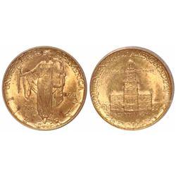 USA (Philadelphia mint), $2-1/2 commemorative, 1926, Sesquicentennial, encapsulated ICG MS64.