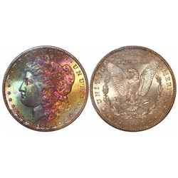 USA (San Francisco mint), $1 Morgan, 1882-S, encapsulated PCGS MS65 with CAC sticker.