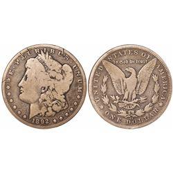 USA (Carson City mint), $1 Morgan, 1892-CC.