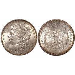 USA (New Orleans mint), $1 Morgan, 1896-O, encapsulated ANACS MS62, rare.