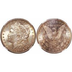 USA (New Orleans mint), $1 Morgan, 1904-O, encapsulated NGC MS 64.