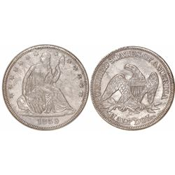 USA (New Orleans mint), half dollar Seated Liberty, 1859-O, 9 in border, from the SS Republic (1865)