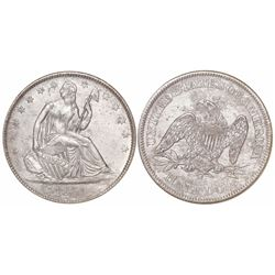 USA (New Orleans mint), half dollar Seated Liberty, 1861-O, Louisiana issue (die W-08), from the SS